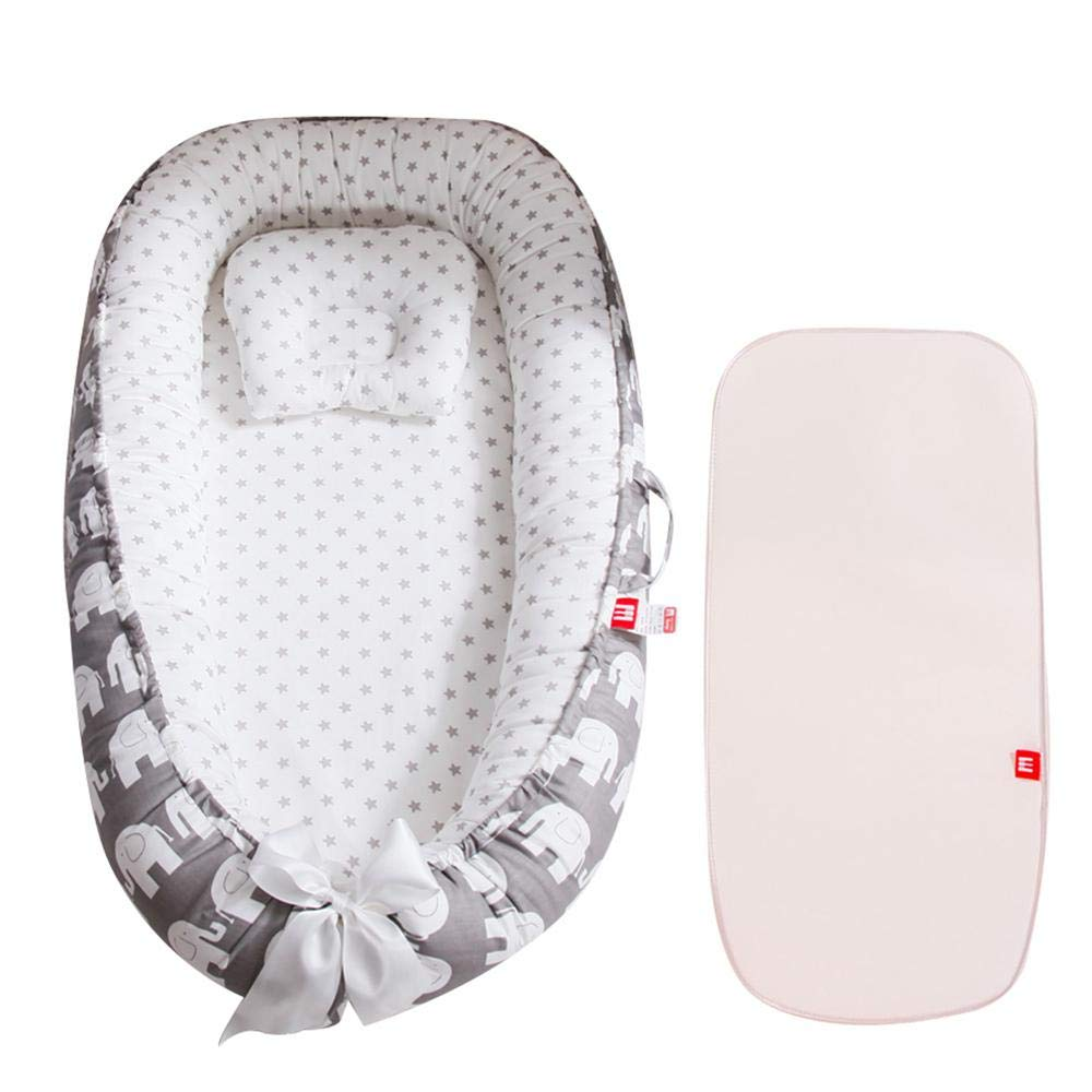 Soft Cotton Pad Perfect For Cosleeping Womdee Baby Nest 3 In 1 Organic Toddler Lounger Comes With The Baby Pillow And Baby Cool Pad Organic Portable Bed