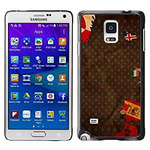 Plastic Shell Protective Case Cover || Samsung Galaxy Note 4 || Europe Flag Spain Portugal Iceland Map @XPTECH