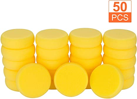 2.8 Inch Crafts Pottery Ceramics Artist Sponge for Watercolor Face Painting /& Household Use YoleShy 25 Pcs Painting Sponge Clay