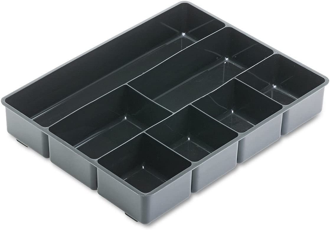 4 X Rubbermaid Extra Deep Desk Drawer Director Tray, Plastic, 11.875 x 15 x 2.5 Inches, Black (11906ROS)