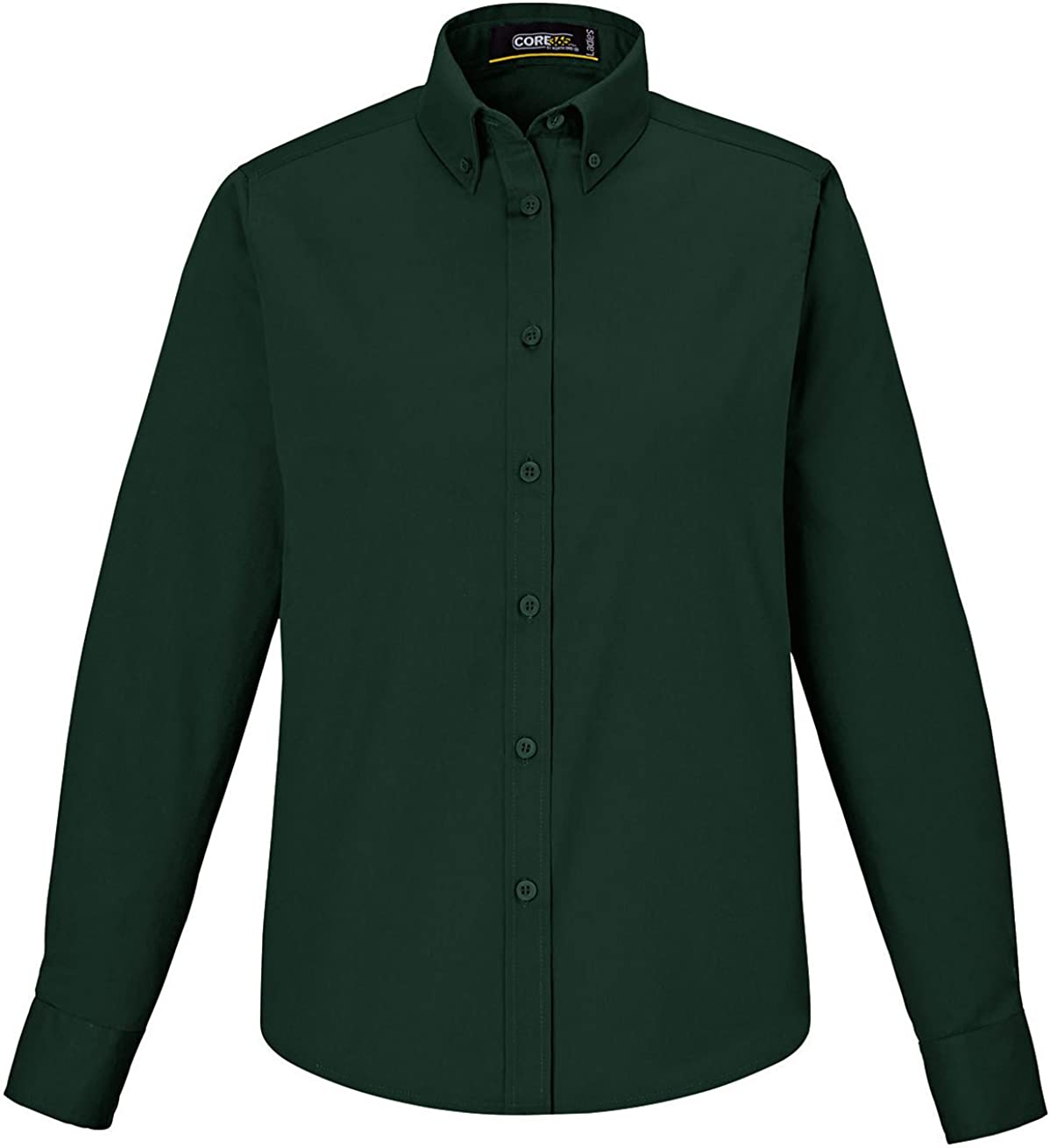 Ash City Operate Ladies Core 365 Long Sleeve Twill Shirt Forest Green 3X