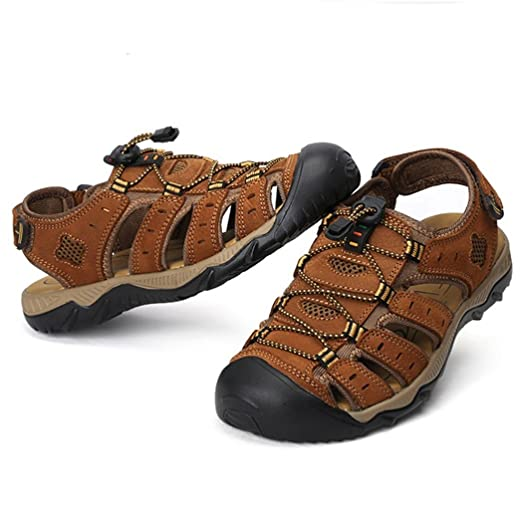 Men's Lace-up Leather Sandal Outdoor Shoes