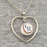 MLB Colorado Rockies 3D Baseball Heart Pendant Necklace