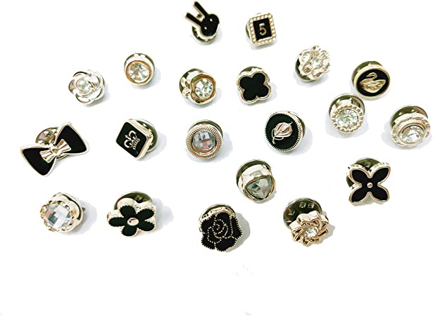MOOZON 20 Pcs Women Shirt Brooch Buttons, Cover Up Buttons Pin for Women Clothing Supplies Gifts