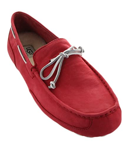 UGG Mens Chester Capra Matador Red Leather Loafer