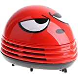 E ECSEM Mini Cute Cartoon Desk Table Dust Keyboard Dust Vacuum Cleaner Sweeper Unique Small Vacuum Hand Held Sweeper for…