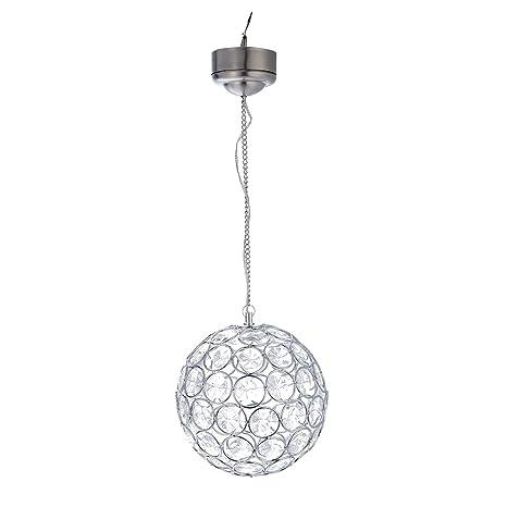 ledmomo lámpara de techo forma de bola cristal con energía ...