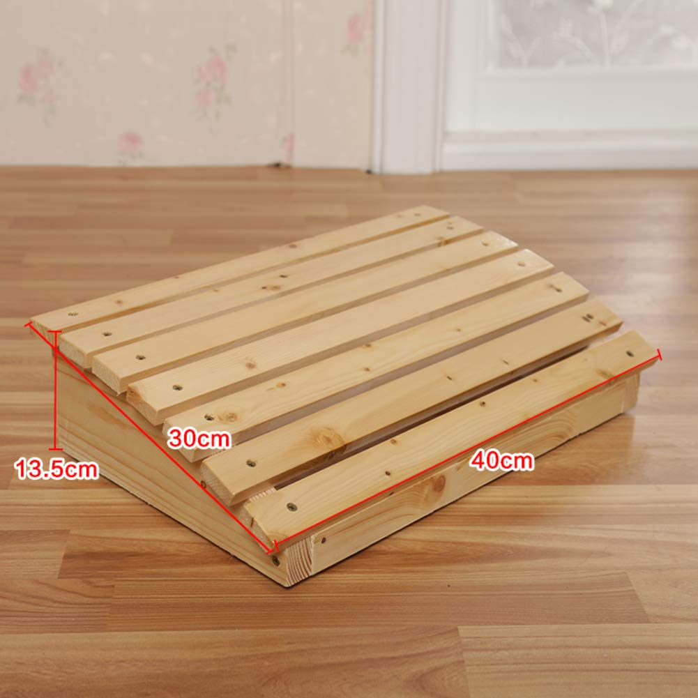 G 60x30x13.5cm(24x12x5in) Wood footrest,Tall with Extended Legs Wooden Foot Stool Natural Floor Bench Sturdy Wooden footrest Pine with Height Storage-N 50x30x13cm(20x12x5in)