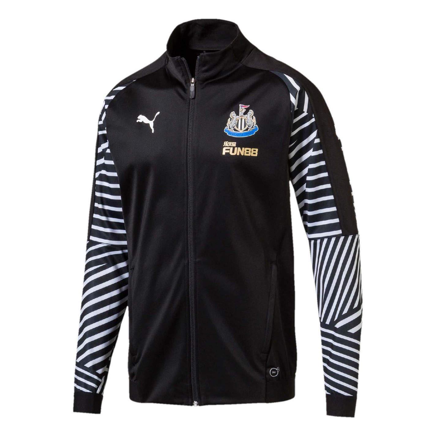 Puma 2018-2019 Newcastle Stadium Jacket (schwarz)