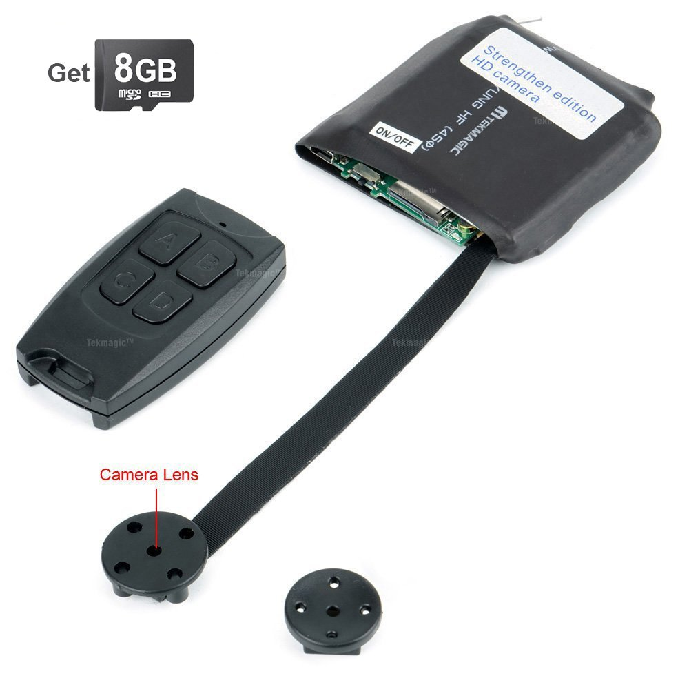 Tekmagic 8gb Mini Cam Ra Espion Bouton Chemise Detecteur De