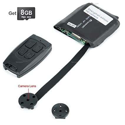 TEKMAGIC 8GB Mini Portátil Módulo de Cámara Espía Activado por Movimiento de la Videocámara DV Soporte