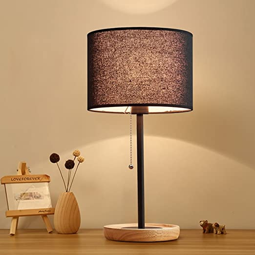 OUZHOUD Table Light Desk Lamp Living Room Solid Wood And ...