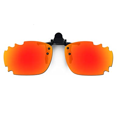 b171b73900 Image Unavailable. Image not available for. Color  HKUCO Sunglasses Clip Red  Polarized Lenses ...
