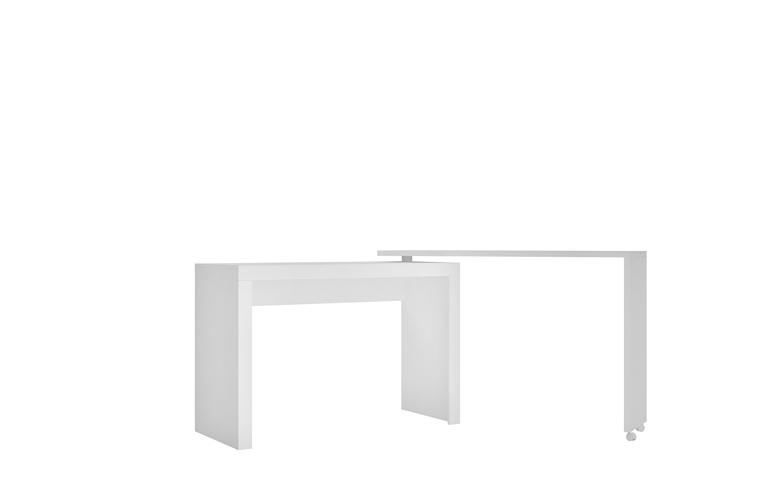 Manhattan Comfort Innovative Calabria Convertible Nested L-Shaped Office or Children's Bedroom Desk, Tobacco