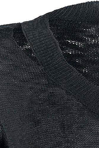 Forplay Suéter punto destrozado Jersey chica Negro Negro