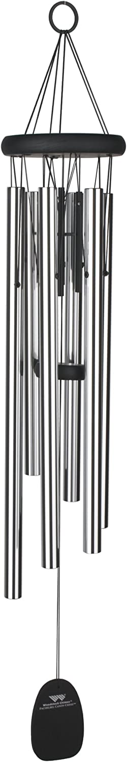 Woodstock Chimes PCC The Original Guaranteed Musically Tuned Chime Pachelbel Canon, Silver
