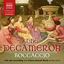 The Decameron Audiobook by Giovanni Boccaccio Narrated by Simon Russell Beale, Gunnar Cauthery, Alison Pettitt, Daisy Badge, Carly Bawden, Lucy Briggs-Owen,  full cast