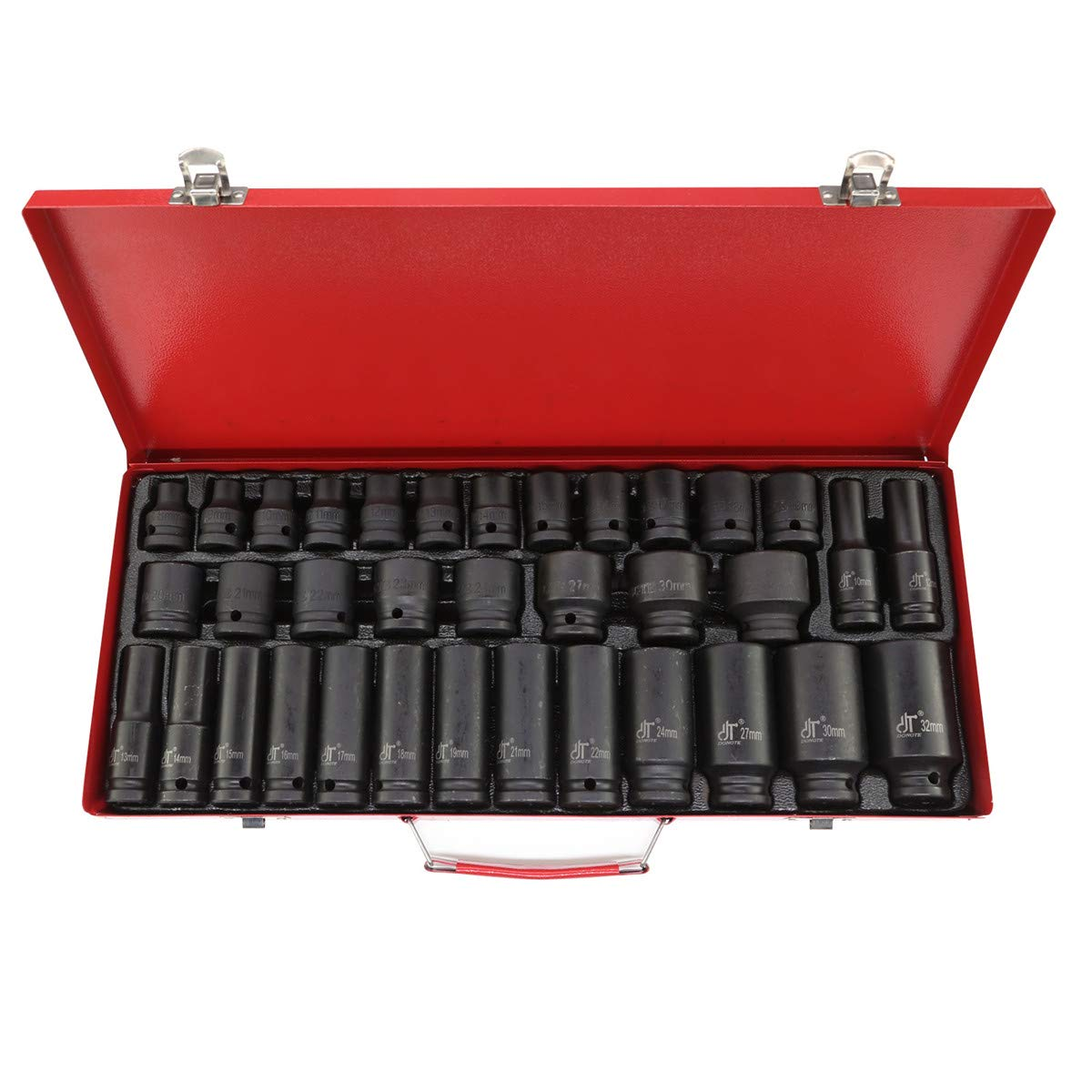 MultiWare Impact Sockets 35 Pcs 1//2 Deep Impact Socket Tool Set Metric Garage Workshop 8-32 MM