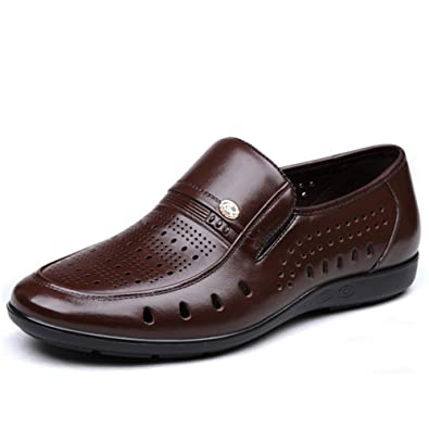 Summer Sandals/Mens soft bottom shoes/Hollow breathable shoes/Middle-aged Crocs