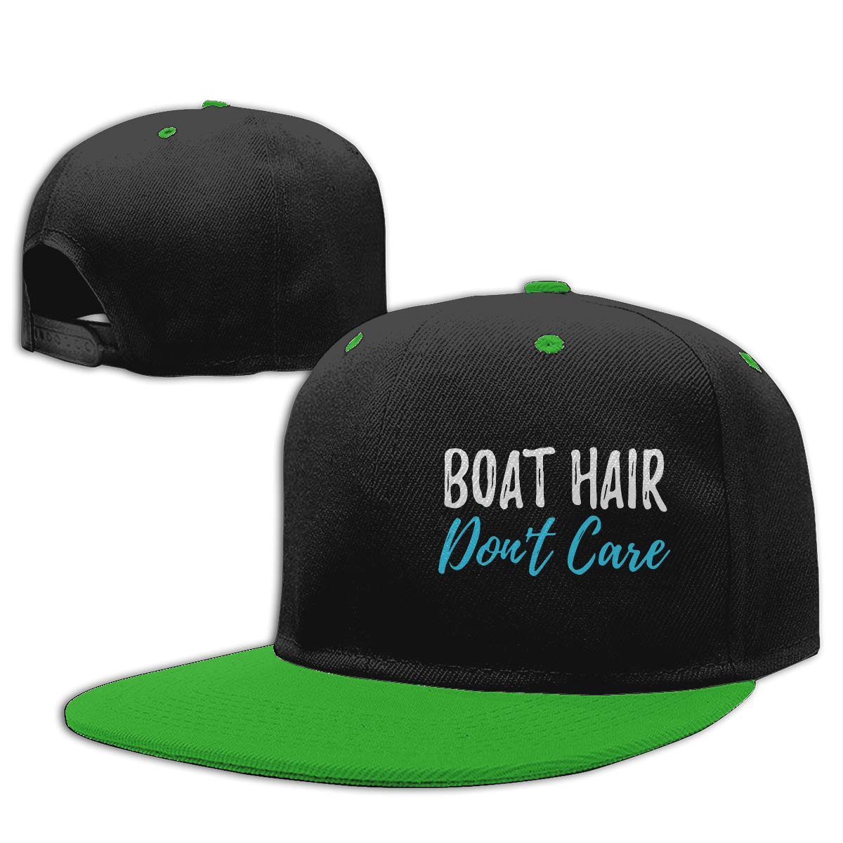 Boat Hair Dont Care Unisex Flat Bill Baseball Caps NMG-01 Men Womens Dad Hat