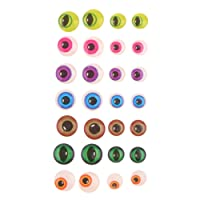 Dovewill 5sets 7 Colors Round Googly Eyes Kids DIY Doll Animal Bear Making Sticker Crafts Toys