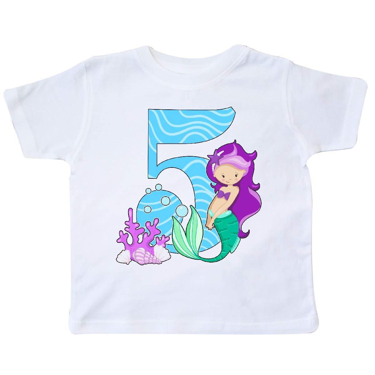 inktastic Fifth Birthday Mermaid Toddler T-Shirt