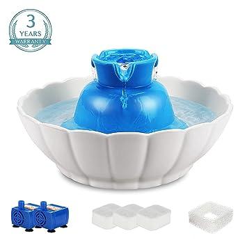 Amazon.com: IPETTIE Fuente de cerámica para mascotas ultra ...