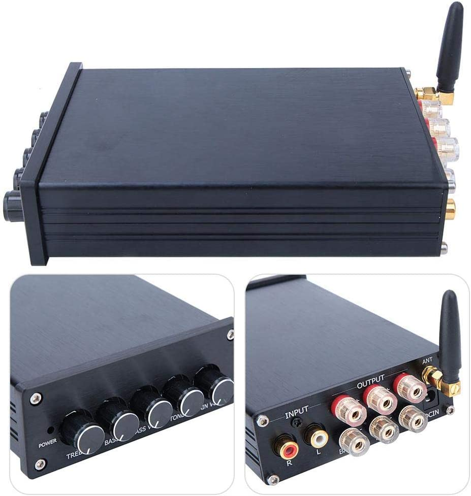 Amplificador de Potencia, DC 18-24V 2A Amplificador de Audio ...