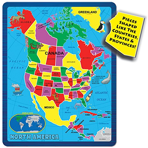 Amazon continent puzzle north america 55 piece toys games gumiabroncs Gallery