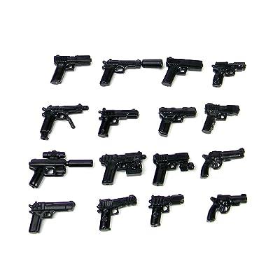Custom Pistol MEGA Pack (P3) Designed for Brick Minifigures: Toys & Games