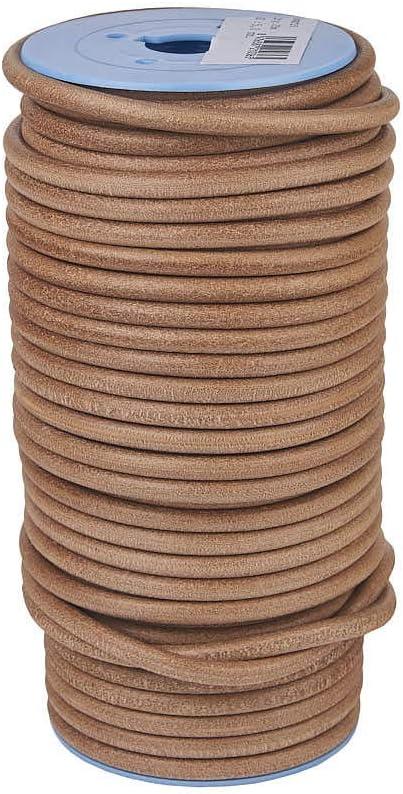 GABARRO Cordón de cuero Natural, 50 mm