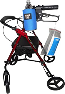 product image for Beverage Holder for Rollator,Walker,Fully Padded Holds 16 fl oz Bottle or 12 oz can Made in USA. (Blue)