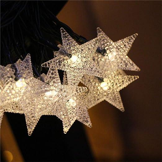 Luces De Hadas Estrellas Led Luces De Jardín Solares Cuerdas ...