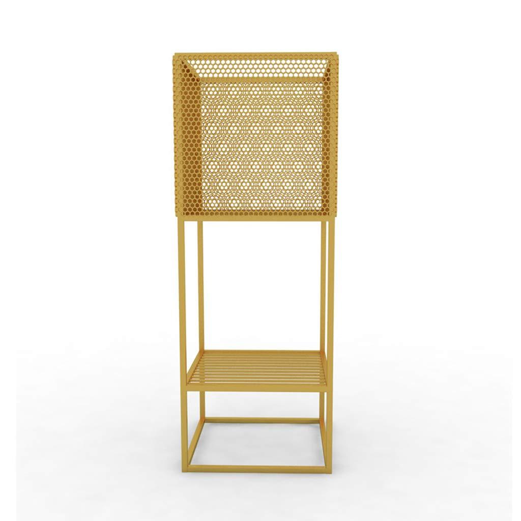 HLJ Supporto per Fiori in Ferro battuto in Stile Nordico Semplice Supporto per Vaso da Fiori per Interni Soggiorno Creativo per Balcone (Colore   oro)