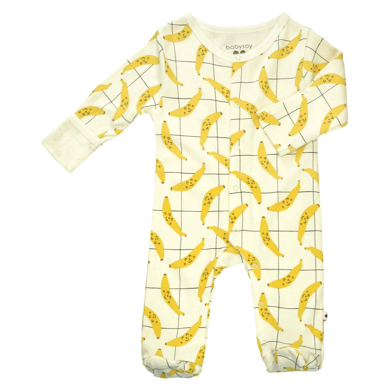Babysoy Long Sleeve Soy Footie PJS Snap One-Piece Sleeper