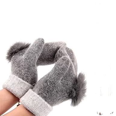 Handschuhe Fäustlinge mit Fell Wolle Winter