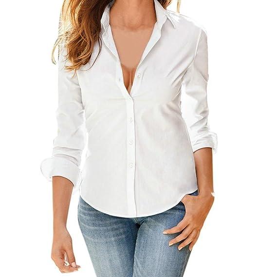 Blusa de Mujer, BaZhaHei, Camisa de Manga Larga para Mujer Formal Oficina Trabajo Uniforme