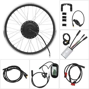 Focket Kit de conversión de Bicicleta eléctrica, 36V 250W Kit de Bicicleta eléctrica Impermeable Profesional con Pantalla LCD y Accesorio de Kit de conversión de Rueda (3 Tipos)(2#): Amazon.es: Deportes y aire