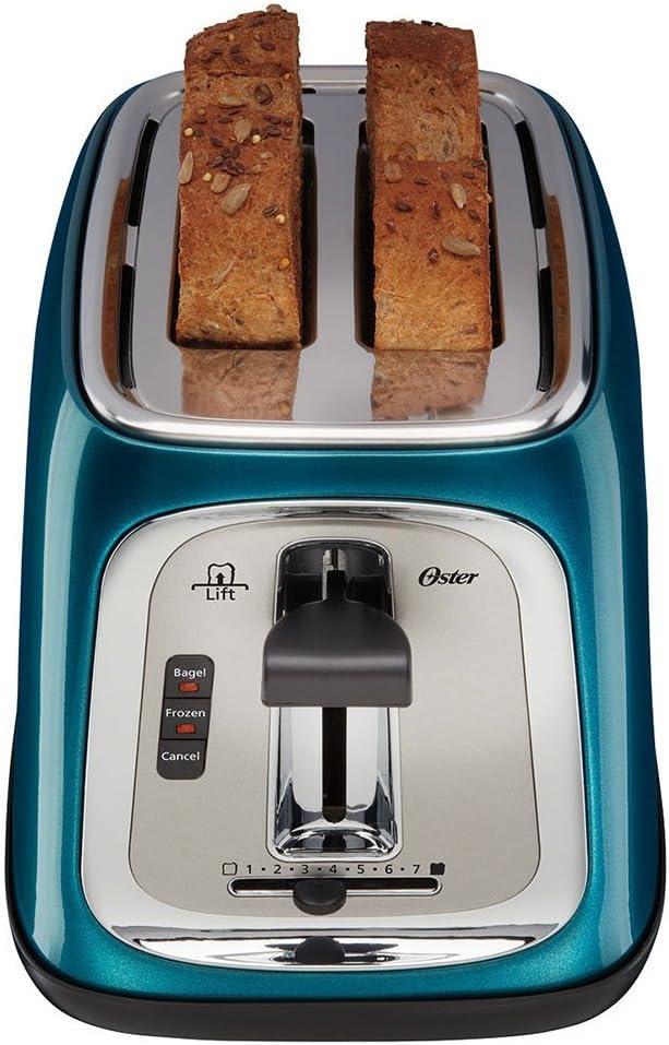 Oster 2-Slice Toaster Metallic Turquoise Blue