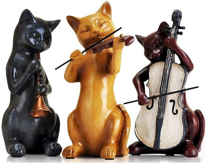 ZOUJUN Gato Adornos Artes de la Resina Decoración Animales Figura de Porcelana esculturas estatuas Crafts Regalos de Boda Decoración del hogar Muebles for el hogar 9 * 17cm