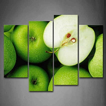 Amazon.com: First Wall Art - Green Apple Wall Art Painting The ...