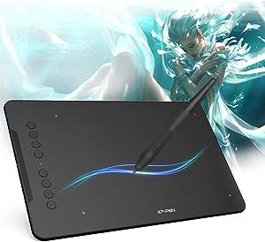 XP-Pen Deco 01 V2 Graphics Tablet 10x6.25 Inch Digital Drawing Tablet 8192-level Pressure Sensitivity Battery-Free Drawing Pen 8 Shortcut Keys for Digital Drawing Design Support Mac Windows Android