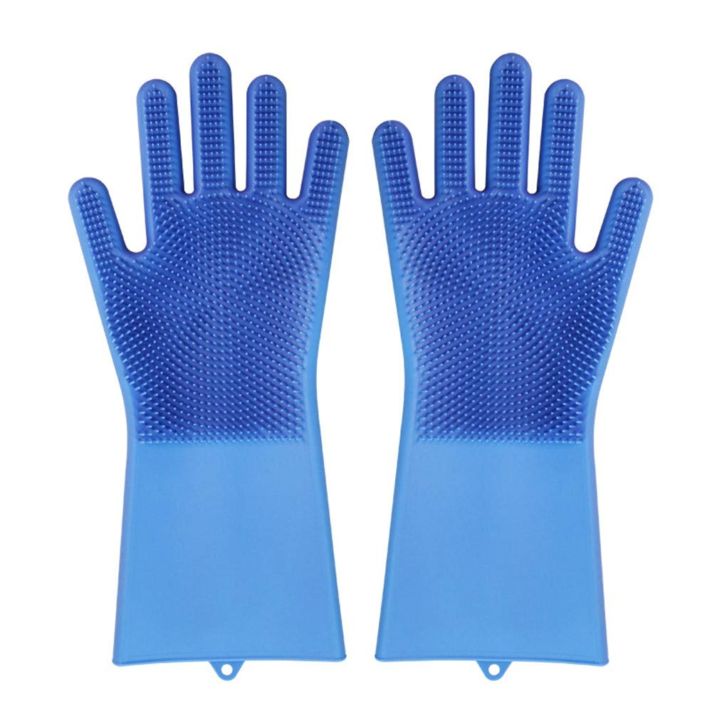 Kim88 Magic Silicone Brush Scrubber Gloves Heat Resistant, for Dish wash, Cleaning, Pet Hair Care Gloves Heat Resistant