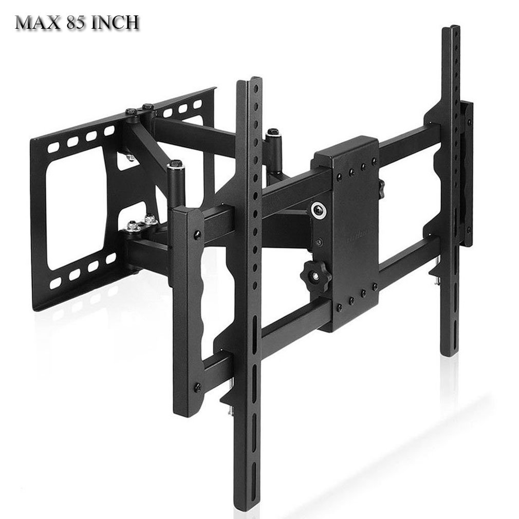 UNHO Double Arms TV Wall Mount Bracket Full Motion Double Articulating Arm for Most 30-85 inch Monitor & TV VESA 700x400