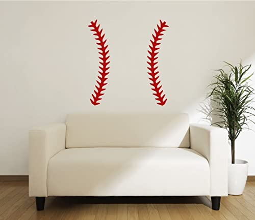 Baseball Printed Wall Decal Sports Athletics Kids Room Man Cave Decals Murals