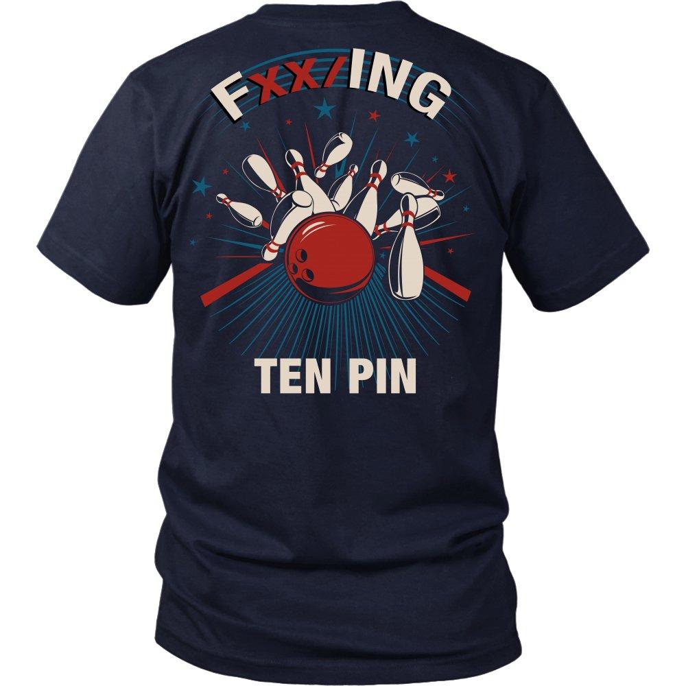 FXX/ing Ten Pin - Bowling Shirt Apparel (Small, Navy)