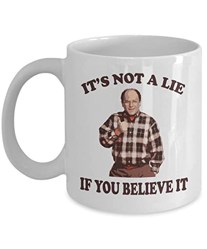 Seinfeld Christmas.Amazon Com Seinfeld Mug George Costanza Mug It S Not A Lie