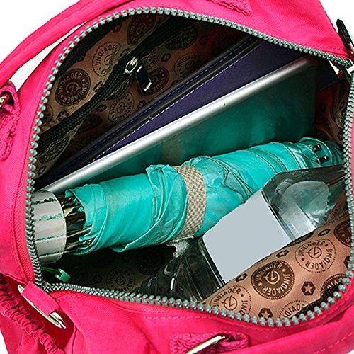 Fuchsia Main Shopping Portés Toile Sac Épaule Sac à Dihope Sacoche Femme en Bandoulière 67HqpcAwT