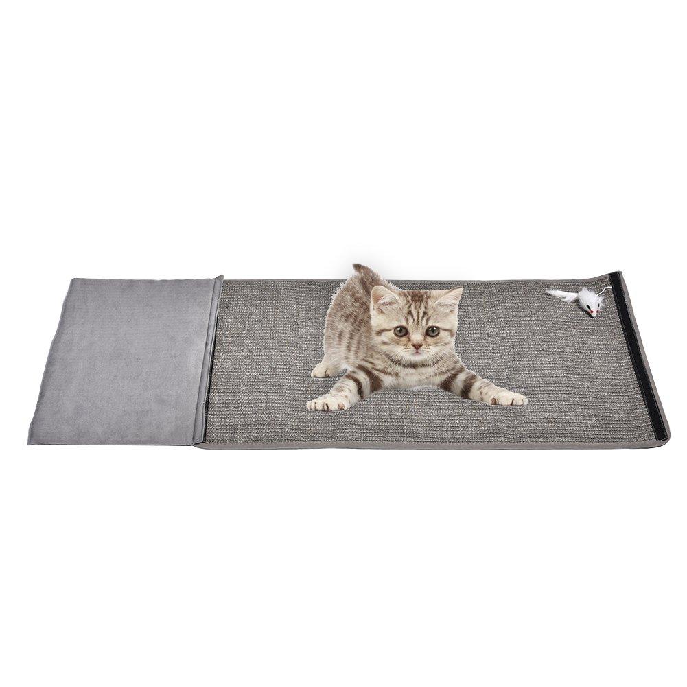 Foerteng Cat Scratching Pad Scratch Mat Cat PlayingToy Sisal Replacement Cat Scratcher and Resting Post Natural Habitat Bed Mat Pet Tunnel