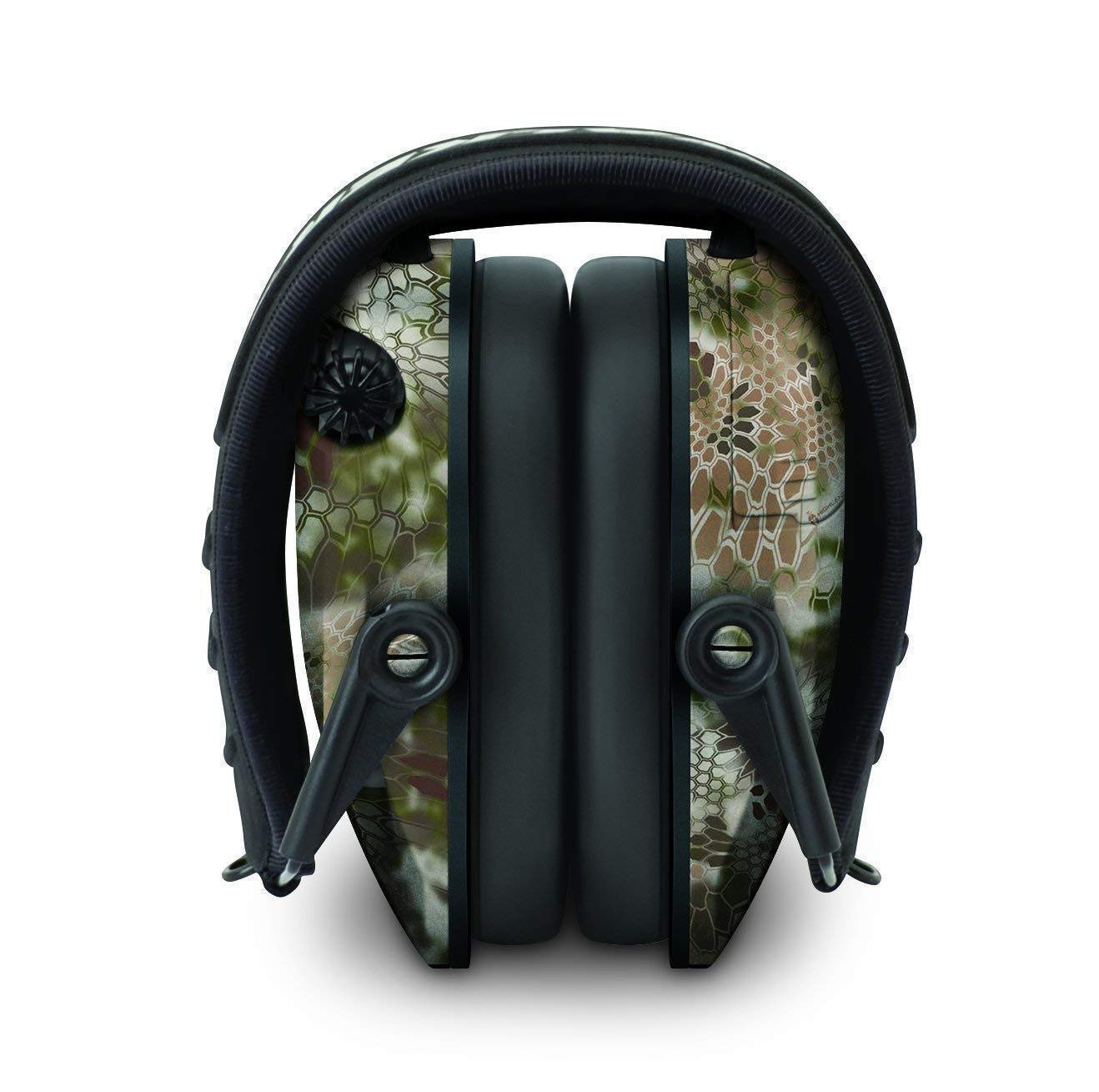 Walkers Razor Slim Electronic Hearing Protection Muffs with Sound Amplification and Suppression and Shooting Glasses Kit (Kryptek Camo) by Walkers (Image #5)